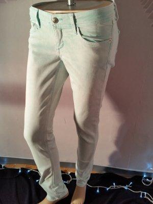 H&M Jeans super skinny türkis Batik Print strech Röhre 30/32 neuwertig