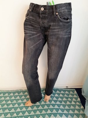 H&M Slim jeans antraciet Katoen