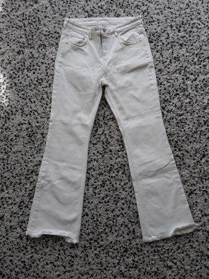 H&M L.O.G.G. Jeans a zampa d'elefante bianco Cotone