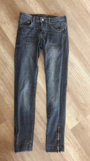 H&M Jeans Zipper Ankle Anklejeans Skinny Slim Fit Röhre Jeans