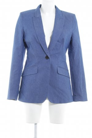 H&M Denim Blazer steel blue empire style