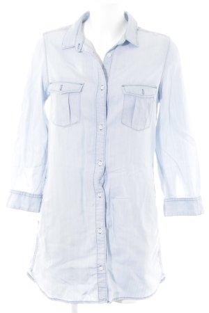 H&M Jeansbluse babyblau Casual-Look