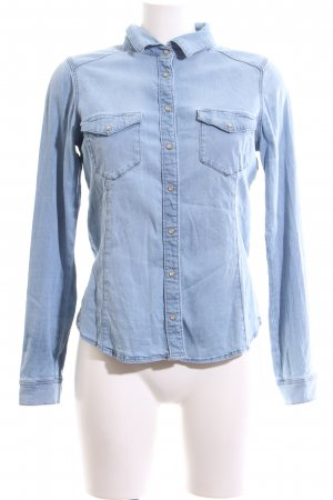 H&M Jeansbluse blau Casual-Look