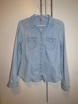 H&M Jeansbluse hellblau