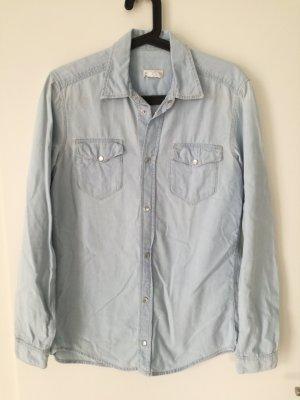 H&M Jeans blouse azuur