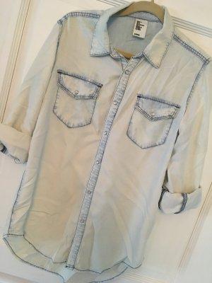 H&M Jeansbluse hellblau Gr. 36