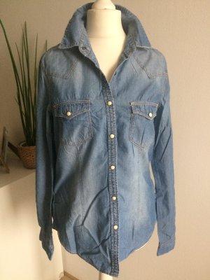 H&M Jeansbluse Hemd 38 M Shirt Frühling Sommer