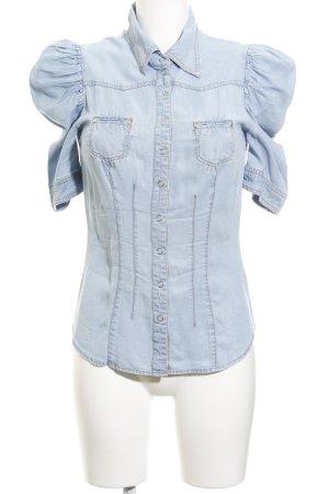 H&M Jeansbluse himmelblau Jeans-Optik