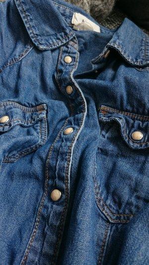 H&M Jeansbluse Jeanshemd Denim blau 36