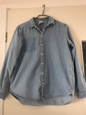 H&M Camisa vaquera azul celeste-gris pizarra