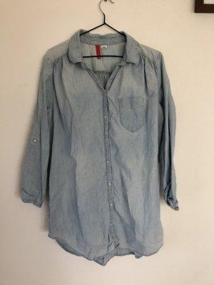 H&M Denim Shirt azure-light blue
