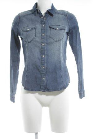 H&M Chemise en jean bleu acier style décontracté