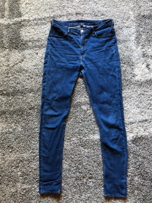 H&M Divided High Waist Jeans dark blue