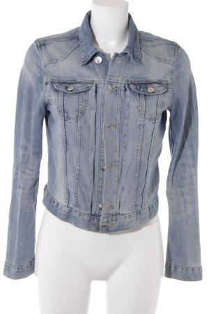 H&M Spijkerjack lichtblauw-leigrijs casual uitstraling