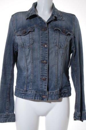 H&M Jeansjacke blassblau Jeans-Optik