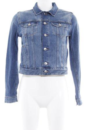H&M Jeansjacke blassblau-stahlblau Casual-Look