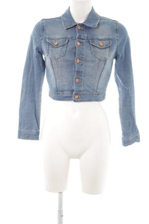 H&M Veste en jean bleu style décontracté