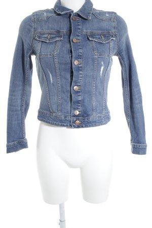 H&M Jeansjacke blau Jeans-Optik