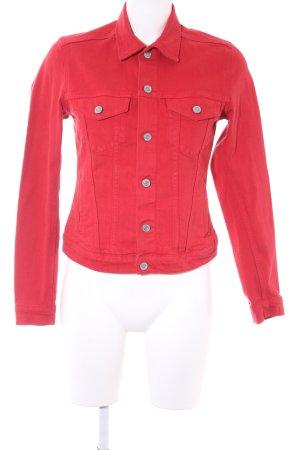 H&M Veste en jean rouge foncé style décontracté