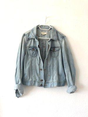 H&M Jeansjacke Gr. 40 M hellblau kurze washed Jeans Jacke