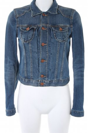 H&M Jeansjacke graublau-dunkelblau Casual-Look