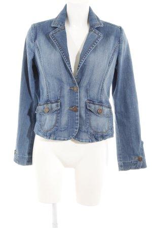 H&M Veste en jean bleu clair style décontracté