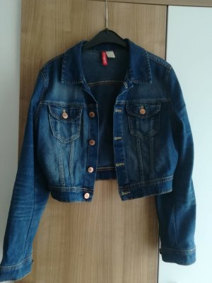 H&M Divided Giacca denim blu-blu scuro