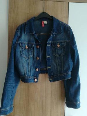 H&M Divided Veste en jean bleu-bleu foncé