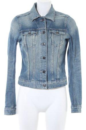 H&M Jeansjacke kornblumenblau Jeans-Optik