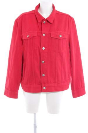 H&M Jeansjacke rot Casual-Look