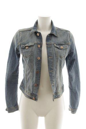 H&M Jeansjacke stahlblau Jeans-Optik