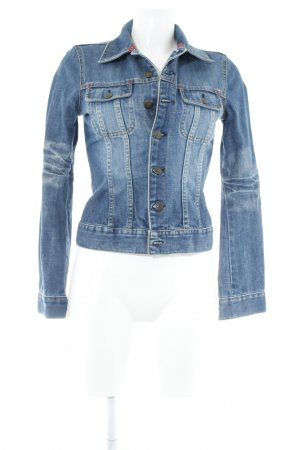H&M Jeansjacke stahlblau klassischer Stil