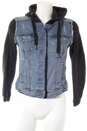 H&M Jeansjacke stahlblau-schwarz Casual-Look