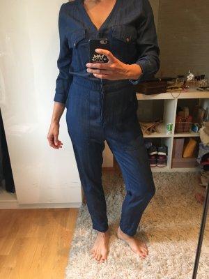 H&M Vaquero tipo peto azul oscuro-azul
