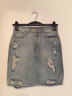 H&M Jeansrock 36 destroyed ripped off used Look Highwaist