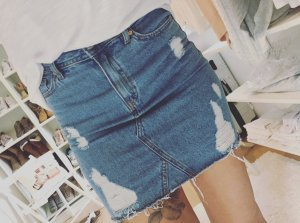 H&M Jeansrock Destroyed Blogger Jeans Rock Ripped Gr.XS