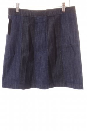 H&M Jeansrock dunkelblau Patchwork-Optik
