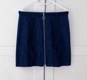 H&M Jeansrock Jeans Rock Größe 40 Denim Reißverschluss
