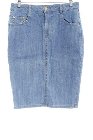 H&M Jeansrock kornblumenblau klassischer Stil