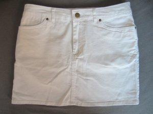 H&M Jeansrock mini Weiß 36 NEU