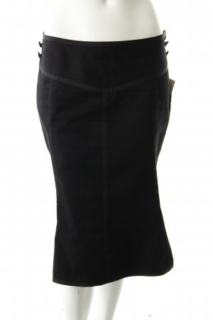 H&M Jeansrock schwarz Stoffknöpfe