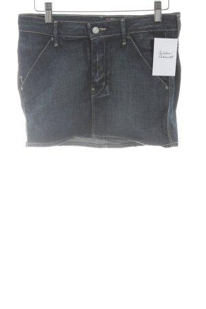 H&M Jeansrock stahlblau Casual-Look