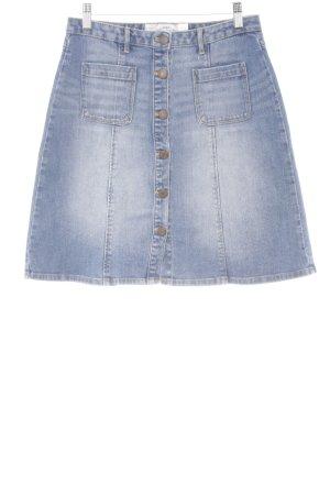 H&M Jeansrock stahlblau Jeans-Optik