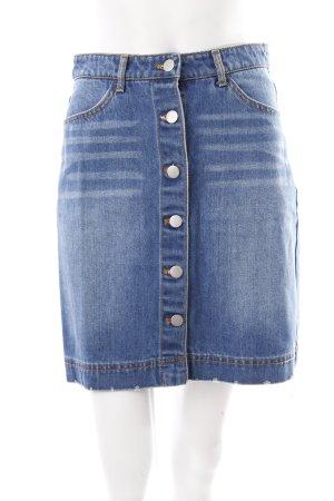 H&M Jeansrock stahlblau schlichter Stil