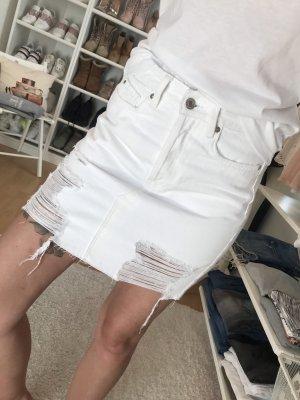 H&M Spijkerrok wit