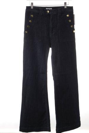 H&M Jeans flare bleu foncé style décontracté