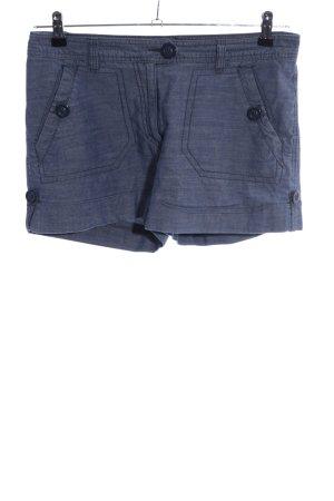 H&M Jeansshorts blau meliert Casual-Look
