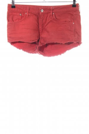 H&M Denim Shorts red casual look