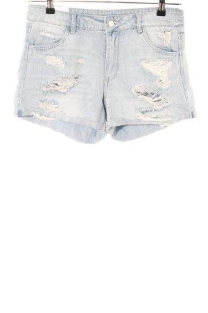 H&M Short en jean gris clair-bleu style décontracté