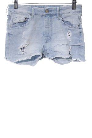 H&M Pantalón corto de tela vaquera azul look Street-Style